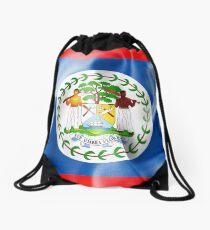 Belize Flag Drawstring Bag