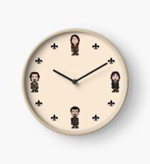 Repeating Musketeers (cream ground) Clock