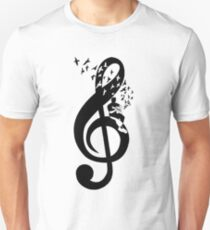 Treble Clef - Acoustic guitar Unisex T-Shirt