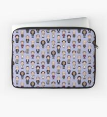 Repeating Sherlock and Friends Laptop Sleeve