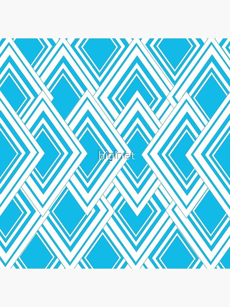 Blue And White Art Deco Design von biglnet