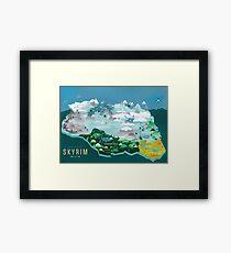 Skyrim- Map Poster Framed Print