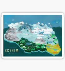 Skyrim- Map Poster Sticker