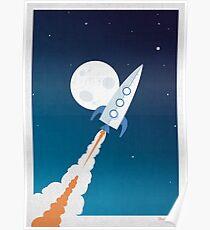 Raketenstart Poster