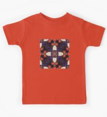Red Orange and Indigo with Black Stitching and Pink and White Accents on with Leather and Suede Kids Clothes