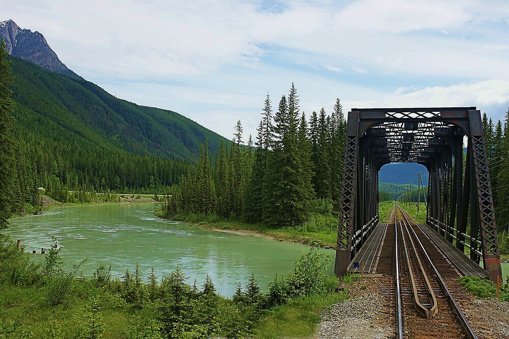 railway river bridge by roger smith