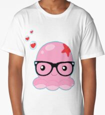 Cute Octopus Nerd Long T-Shirt