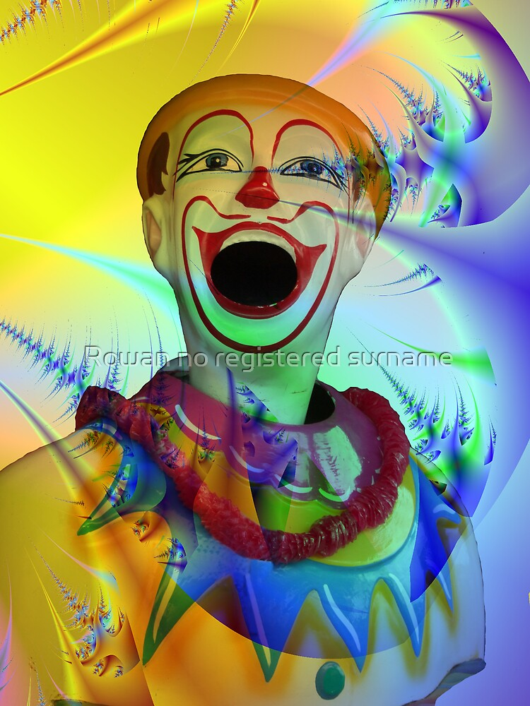Carnival clown by Rowan no registered surname