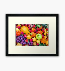 Low Poly Fruit Framed Print