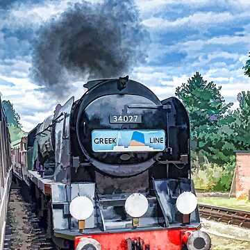 Greek Line Steam Train by maryloufletcher