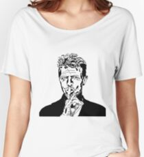 David Bowie Tee - Sshhh Women's Relaxed Fit T-Shirt