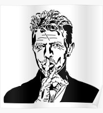 David Bowie Tee - Sshhh Poster