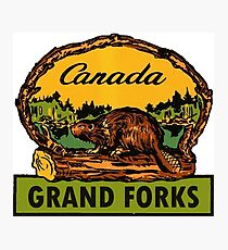 Grand Forks BC Canada Vintage Travel Decal Photographic Print
