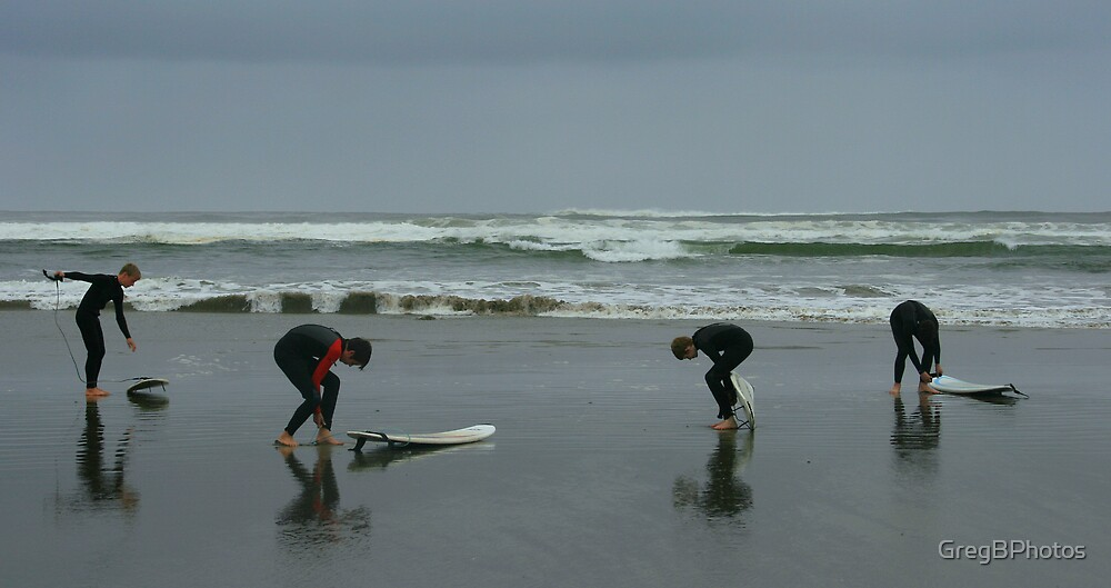 Surfers prepare by GregBPhotos