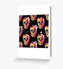 fire skull Greeting Card
