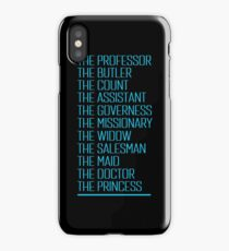 Murder on The Orient Express - Character List 2017 iPhone Case/Skin