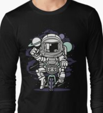 Riding A Motorcycle in Space T-Shirt