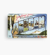 Greetings From Oregon  Canvas Print