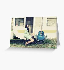 Traveling Music Greeting Card
