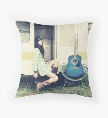 Traveling Music Throw Pillow