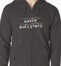 Merry Stranger Christmas Sudadera con capucha y cremallera