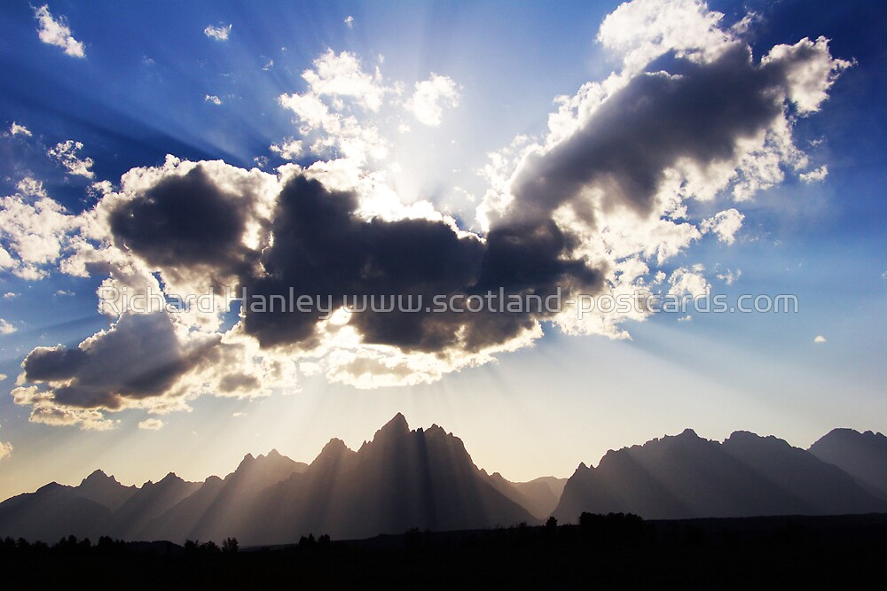 Grand Teton by Richard Hanley www.scotland-postcards.com