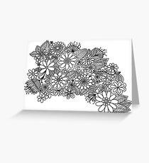 B&W Flowers Greeting Card