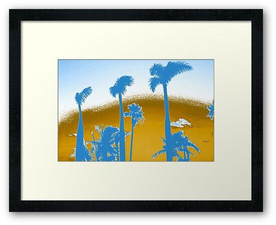 Chrome Palm Trees by Lisa DeLong