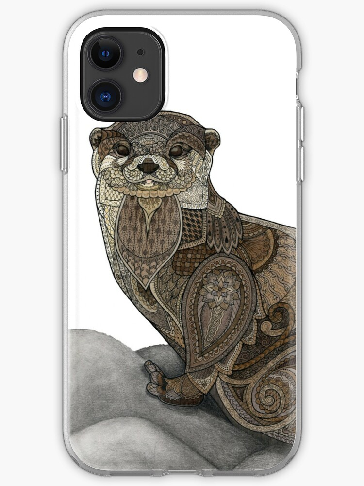 Tiny otters and their sushi iphone 11 case