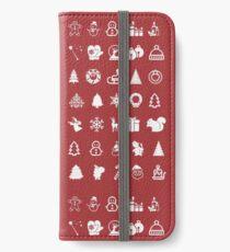 Red Icons Xmas Vinilo o funda para iPhone