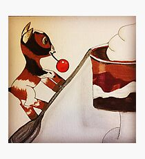 Chocolate Trifle Goat Photographic Print