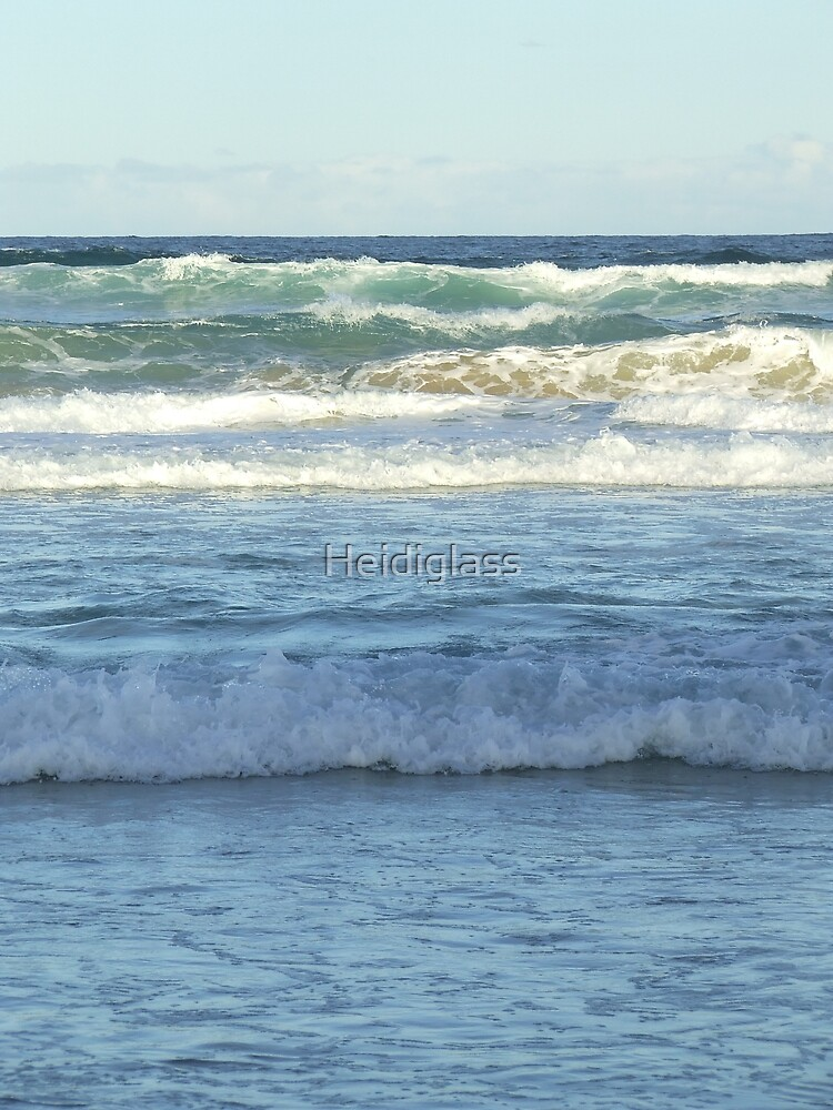 The colour of blue green waves by Heidiglass