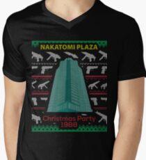 Nakatomi Plaza - Funny Ugly Christmas Sweater Men's V-Neck T-Shirt