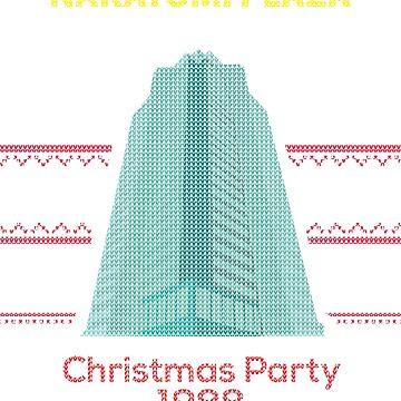 Nakatomi Plaza - Funny Ugly Christmas Sweater by ridethewave