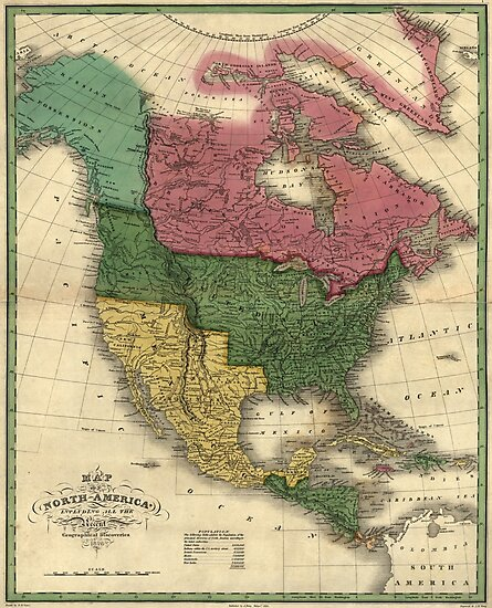 Map of North America (1826) by allhistory