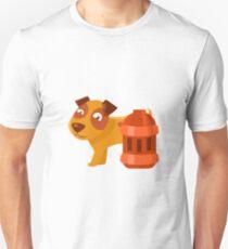 Puppy Next To Vintage Red Lantern T-Shirt