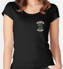 Riverdale ® Merch South Side Serpents Women's Fitted Scoop T-Shirt