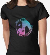 Equestrian Women Girls Love Their Horses Gift Women's Fitted T-Shirt
