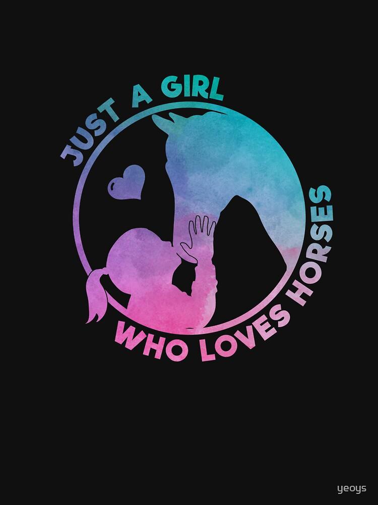 Equestrian Women Girls Love Their Horses Gift von yeoys
