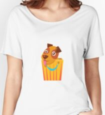Puppy Hiding In Shopping Bag Women's Relaxed Fit T-Shirt