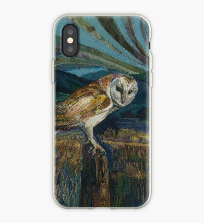 Sitting Pretty - Barn Owl Embroidery Textile Art iPhone Case