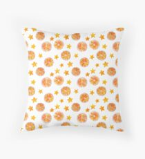 Oranges and stars seamless pattern Floor Pillow