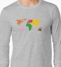 Montessori World Map Long Sleeve T-Shirt