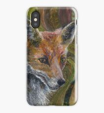 Fantastic Mr Fox - Fox Embroidery - Textile Art iPhone Case