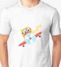 Duckling Pilot Cute Character Sticker T-Shirt