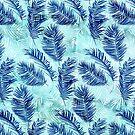 Blue Ferns by Tammy Wetzel