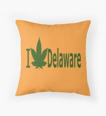 0206 I Love Delaware Throw Pillow