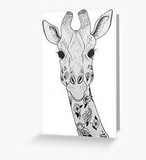 Flores y manchas Greeting Card