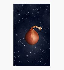 Sci-Fi Onion in Space Photographic Print