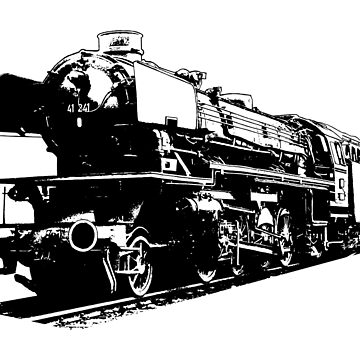 Steam Locomotive - High Contrast by Artberry